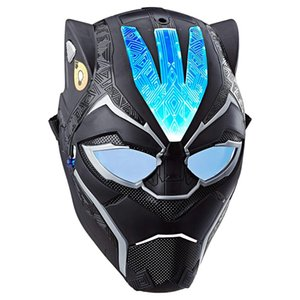 Up Light panther Vibranium Cosplay Power FX Mask Halloween Costume Prop for Kids Masquerade Party black Role-play