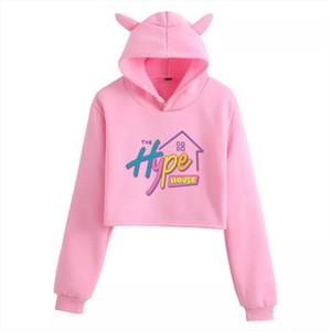 The Hype House Hoodie Sweatshirts Women Charli DAmelio Print Hoodie Addison Rae Unisex Turtleneck Sweatshirts Drop Shipping