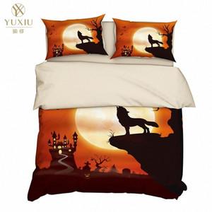 Yuxiu Impressão 3D animal Lobo Duvet Covers conjuntos de cama Set Lençois Tampa Fronhas Rei Rainha completa Duplo Duplo qL7s #