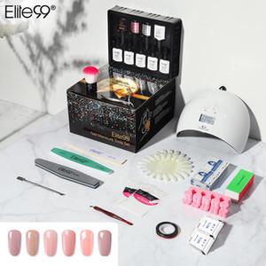 Set de esmalte de uñas de Elite99 Conjunto de esmalte LED UV Secador de lámpara con 9pcs Kit de gel de uñas Rojón OFF OFF OFF OFF OFF OFF MANICULAR SET Cepillo Limpieza Tampón Nail Tools
