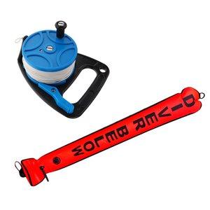 Segurança 4FT Scuba Diver SMB superfície do tubo Marcador da bóia Signal + Dive Reel com o polegar Stopper