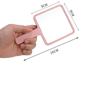 Fashion C women portable vanity mirror mini handle mirror cosmetic mirror for ladies collection luxury items vip gift KKF2020