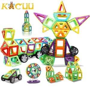 Kacuu Magnetische Bausteine DIY Bau-Spielzeug für Kind-Geschenk Zubehör Constructor Designer Magnent Modell Lernspielzeug qylTlW