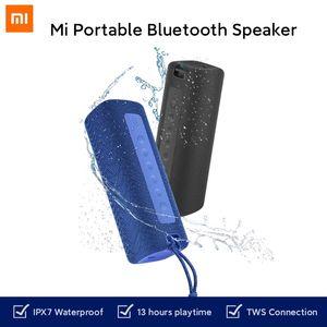 Xiaomi mi المحمولة بلوتوث المتكلم 16 واط tws اتصال جودة عالية الصوت IPX7 للماء 13 ساعة اللعب