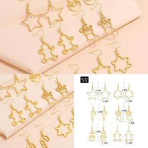 Gioielli Mq6NC Beads acciaio Orecchini EarringsStud luna di Natale coreano acciaio per maschile e femminile KPOP Accessori DNA