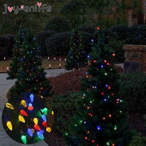 1set 20 LED multicolore chaîne 2M extérieure Guirlande de Noël Hanging décorations de Noël de partie d'arbre Décoration d'intérieur