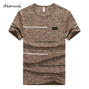 DIMUSI Summer Men T-shirts Fashion Mens Cotton O-Neck Short Sleeve T Shirts Men Gyms t shirt Fitness Bodybuilding Tees Tops 9XL C1021