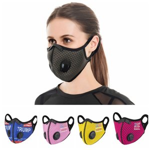 Trump Cycling Mask 2020 US Election With Breath Valve Dustproof Hazeproof Breathable Sun Protective Mask Outdoor Sports Mouth Cover LJJP683