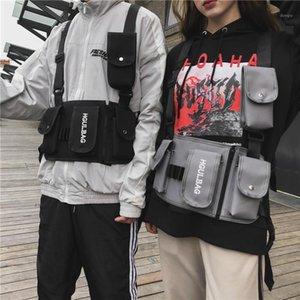 Mode coole Brust Taille Weste Tasche Trendy Street Tooling Herren Funktionale Multi Pocket Fanny Pack Für alle1
