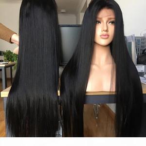 Pelucas de cabello humano frente al frente de 13x4 recto 13x4 pelucas de cierre de encaje brasileño 4x4 pelucas de pelo humano barato con envío gratis