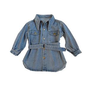 chifuna New Blue Denim Robe manteau à manches longues école bébé veste filles Manteaux bébé fille Vêtements pour les filles enfants Veste en jean