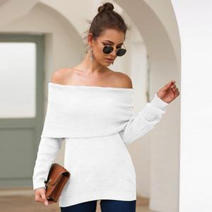 Joineles 2020 donne sottili sexy Maglione indossando più Metodi Pullover Solid Tirare Gray Femme Donne ponticello Outwear