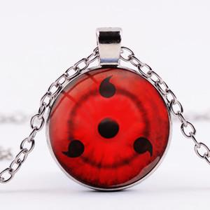 Naruto Shippuden Войти Ожерелье Uchiha Clan Sharingan глаз Посеребренная Длинные цепи ожерелья Стеклянные купола Anime Любители Подарки