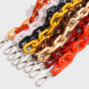Flatfoosie Bohemia Acrylic Resin Keychain Fashion Long Wide O-shaped Chain Keychain for Women Hip Hop Clothing Accessories