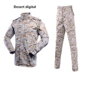 Camouflage Set d'extérieur Set Hommes Homme à manches longues TrackSuit Multicam Soldat Tactique Soldat Armée Combat Combat Vêtements de combat Combattant Combattant + pantalon