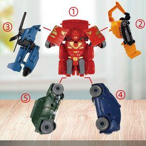 Vente chaude 5-en-1 King Kong Robot Robot Déformation corporelle Robot Autobot Boy Boy Modèle Jouet cadeau