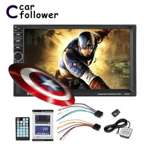 """2 Din Car Multimedia Player GPS navigation Bluetooth Audio Stereo Car Radio 7""""HD MP5 Touch AUX USB FM Rear View Camera"""