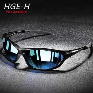 HGE-H Outdoor Men Polarized Sunglasses Sports Driving Sun Glasses Men PC Frame Colorful TAC Lens Goggles TN6