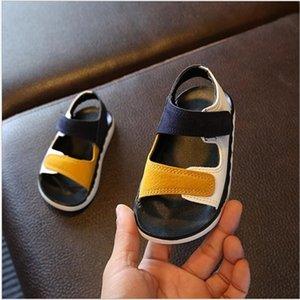 Qualità Bambini Alta ragazza del neonato Patchwork Summer Beach Sport morbidi sandali scarpe di cuoio 2020 bambini Sneakers C1002