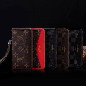 아이폰 12 미니 11 프로 X XS MAX XR 8 8plus 7 7plus 품질 디자인 360도 보호 커버 클래식 지갑 플립 POCH 가죽 전화 케이스
