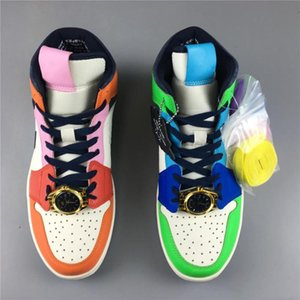 Fashion New release 1 I OG Melody Ehsani Mid Fearless WMNS MEN Basketball Shoes designer 1s sneakers sports outdoor trainers top quality