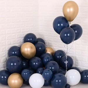 30pcs lot Navy Blue Balloons Latex Dark Blue Kids Favor Party Decor Balloons Birthday Baby Shower Bridal Shower Party Supplies