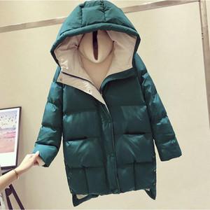 새로운 겨울 Dwon면 코트 플러스 크기 여자면 패딩 자켓 여성 롱 후드 따뜻한 파카 여자 탈지면 Jaqueta Feminina