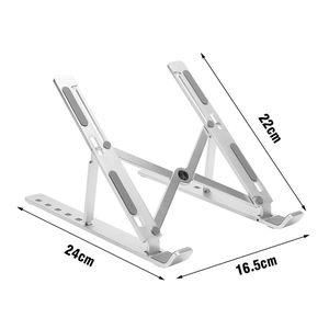 Ventilato alluminio Laptop Riser Supporto da tavolo pieghevole Titolare computer notebook con 6 Heights regolabile