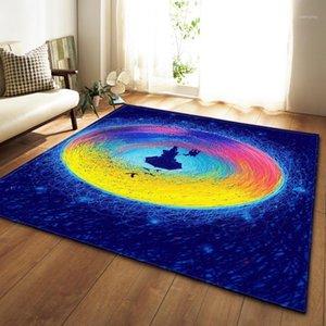 Nodic 3D gedruckt Gemälde Teppich für Wohnzimmer Kinder spielen Zelt Bodenmatte Moderne Mode Anti-Rutsch Große Fläche Rug Home Decor1