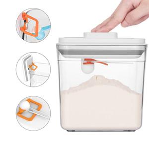 Baffect de la cocina de la caja de almacenaje de cereales tanque hermético del envase Envases de plástico latas selladas Para Cereales secundarios Leche en Polvo