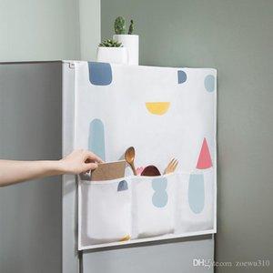 PEVA Холодильник Висячей сумки для хранения Oven Водонепроницаемого пыленепроницаемом Обложки Творческого Printed Холодильник Организатор сумка Кухня питание DBC VT0450
