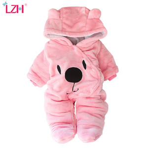 LZH Winter Clothes Newborn Girls Overall Autumn Long Sleeve Romper For Baby Boys Jumpsuit Costume Infant Clothing 201009