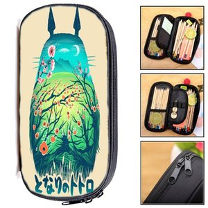 Totoro Kids Purse Student Pencil Case Bag Teens Pencil Box Kids Cartoon Stationery Bag New Boys Girls Holder Gift