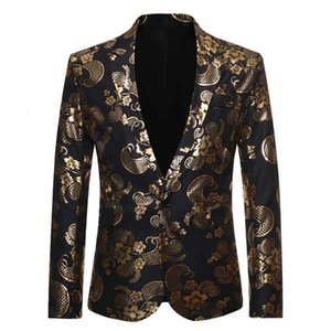 new Wedding Autumn gilt and winter Suit Jacket single breasted men's coat Men's favorite trendy fashion high-end atmosphere high-end
