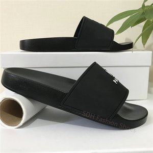 Cheap Best Mens Womens Sandals Shoes Top Quality Slide Summer Fashion Wide Flat Slipper Sandals Slipper Flip Flop With Box Size 35-45