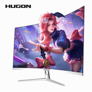 HUGON 27 inch Curved 75Hz 1920*1080 Monitor SPVA Computer Display Screen Full Hdd input 5ms Respons  VGA1