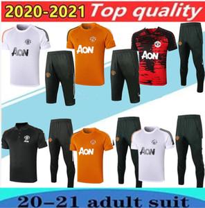 2020/21 Polo de manga curta camisa calças de treinamento de futebol terno 20/21 Rashford Lukaku homem futebol pólo camisas tracksuit