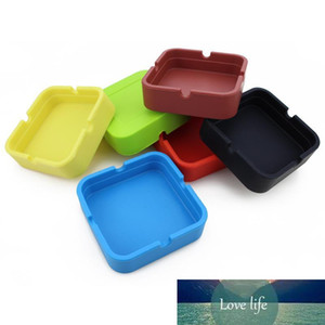 Silicone Ashtray Mini Portable Shatterproof Eco-Friendly Square Ashtray 9 Colors Home Coffee Shop Bar Hotel Men Ashtray Craft Gift BH1823 ZX