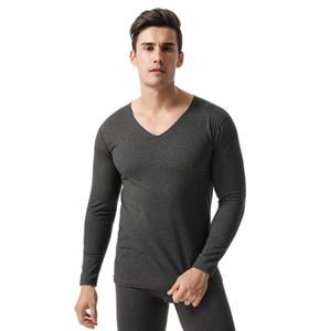 Termal iç çamaşırı erkekler kış uzun Johns setleri kadife sıcak tutmak uzun kollu tops ve pantolon kış giysileri erkekler artı boyutu