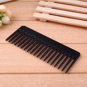 Peinera Peine Black Plástico Dientes Amplios Peine Ondulado Pelo Estilo Dentangling Wide Comb Salon Hairstyling Barbers Massa Sqchcr