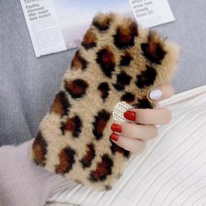 Light luxury Fashion leopard print Fur Phone Case For iPhone 12 mini iphone 11 pro max XR XS MAX IPHONE 7 8 super-sexy PROTECITVE CASE