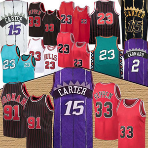 nba Toronto Raptors Jersey Chicago Bulls jordan retro 15 Vince Carter 33 Scottie Pippen 91 Dennis Rodman basketball jersey men new basketball jerseys