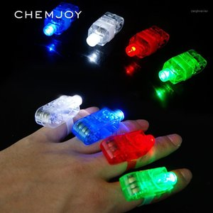 Party Favor 30pcs LED Finger Lights Glow Rings For Kids And Adults Glowing Favors Gifts Holiday Wedding Light Up Toys Supplies1