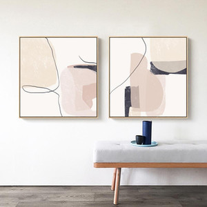 Abstract Beige Marble Geometric Graphics Canvas Paintings Poster Print Wall Art Giclee Artwork for Wall Living Room Home Decor
