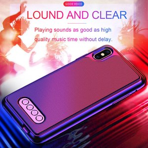3 in 1 Bluetooth Speaker V4.2 Power Bank Phone Case TPU Hard Shell Cover For iPhone 6 6S 7 8 Plus X XS Max XR