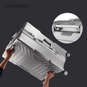 Chupermore 100% telaio in alluminio rotolamento bagaglio spinner da 29 pollici alta capacità valigia ruote uomo business password borse da viaggio lj201114