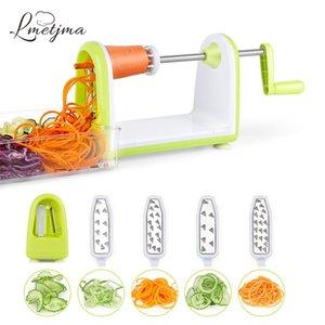 Lmmetjma espiralizer legumes slicer slicer de aço inoxidável slicer shredder zucchini macarrão espaguete spaghetti spaghetti kc0089 201130