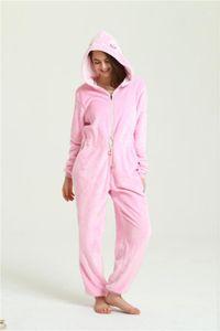 Winter Warm Pyjamas Women Onesies Flannel Jumpsuits Sleepwear Overall Plus Size Hood Sets Pajamas Onesie For Women Adult1