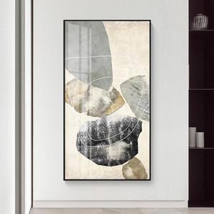 Abstract Marble Canvas Stampa Pitture Black Line Line Stone Poster Nordic Wall Art Immagini su tela Soggiorno Office Decorazioni per la casa