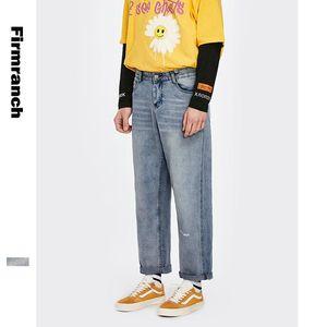 Jeans da uomo Firoppo 2021 Primavera / Autunno Uomini Allentati Giapponese Cargo Giovane Pantaloni dritti Pantaloni diritta Pantaloni da uomo Pantaloni per ragazzi